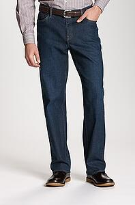 Man wearing Cutter and Buck Men's Big and Tall Greenwood Denim