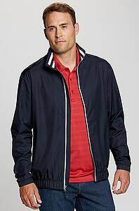Man wearing Cutter and Buck Men's Big and Tall Nine-Iron Full-Zip Jacket