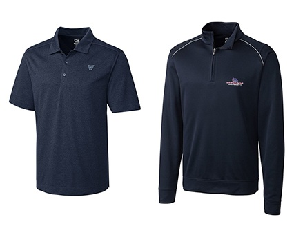 VILLANOVA MEN'S B&T CHELAN POLO and GONZAGA BULLDOGS MEN'S RIDGE HALF-ZIP