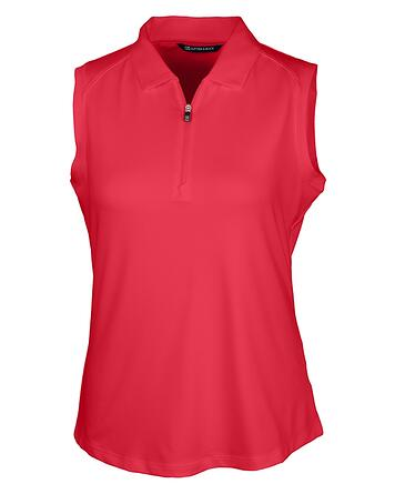 Cutter & Buck Forge Stretch Womens Sleeveless Polo in Cardinal Red