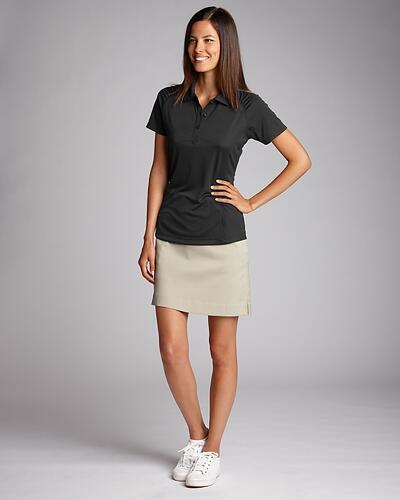 Woman wearing black Cutter & Buck Ladies CB Northgate Polo | 10 Best Polo Shirts for Women