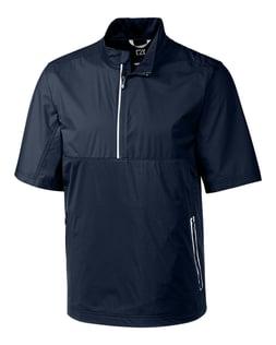 Cutter Buck Fairway Short-Sleeve Half Zip Jacket in Navy