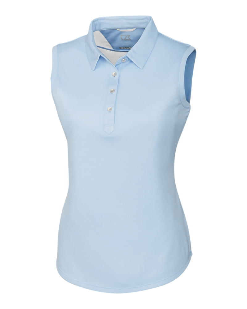 Cutter Buck Ladies Clare Polo in Light Blue