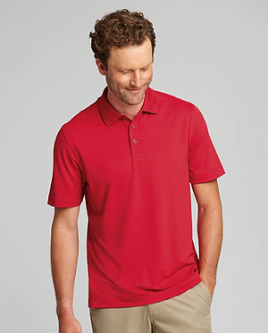 Man wearing Cutter and Buck Men's Forge Polo