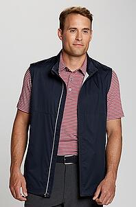 Man wearing Cutter and Buck Fairway Full-Zip Vest