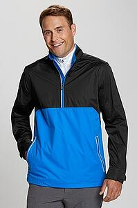 Man wearing Cutter and Buck Half-Zip Fairway