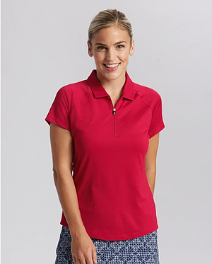 Woman wearing Cutter and Buck Ladies Forge Polo