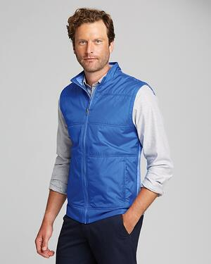 man wearing Cutter and Buck Men's Stealth Full Zip Vest in Chelan