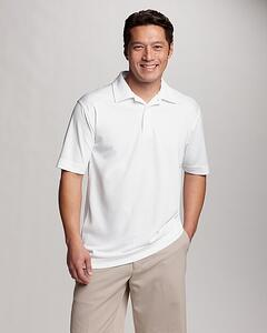 Man wearing Cutter and Buck Men's Big and Tall CB DryTec Genre Polo