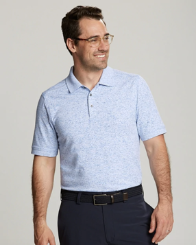 Cutter and Buck Mens Advantage Polo Space Dye in Lakeshore