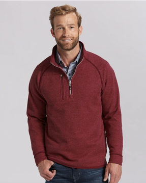 Cutter and Buck Mens Mainsail Half Zip in Cardinal Red Heather