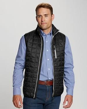 Man wearing Cutter and Buck Men's Rainier Vest in Black