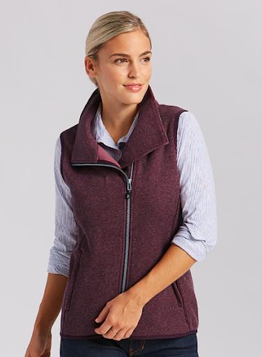 Cutter & Buck Mainsail Sweater-Knit Womens Full Zip Vest