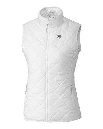Cutter and Buck Ladies Kansas City Chiefs Sandpoint Quilted Vest