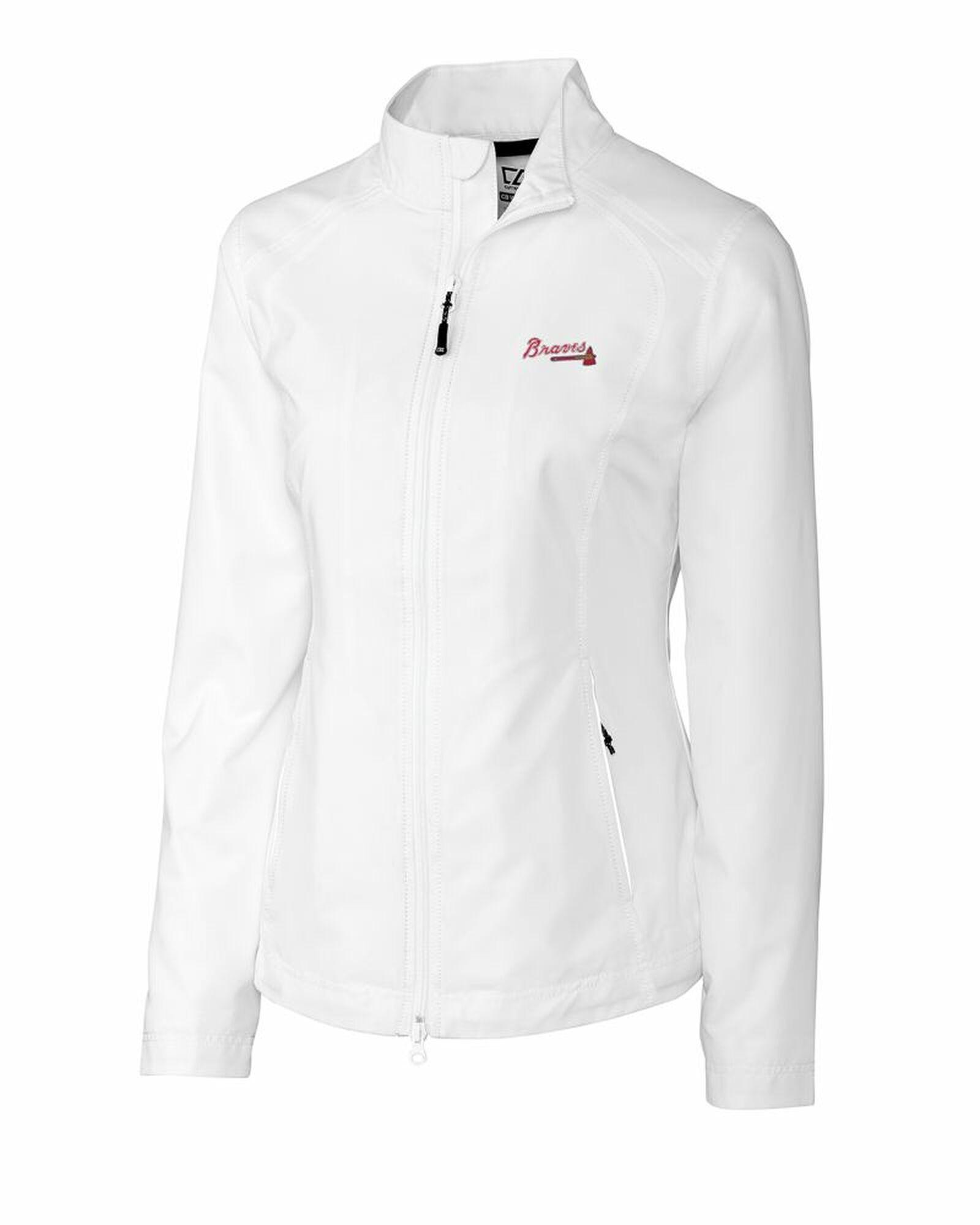 Cutter and Buck Ladies Atlanta Braves WeatherTec Beacon Full-Zip Jacket