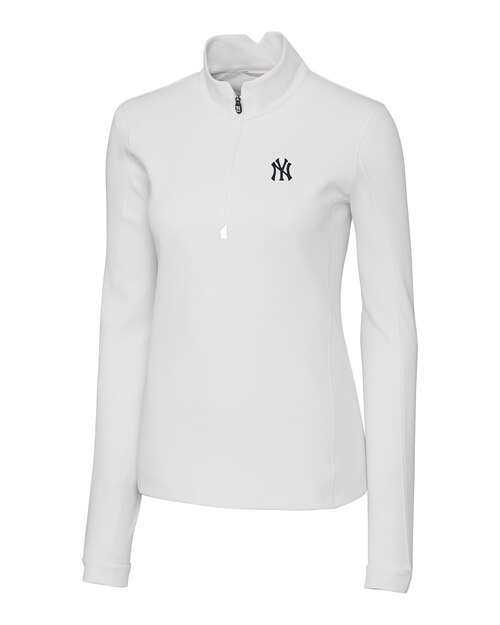 Cutter and Buck Ladies New York Yankees Traverse Half-Zip Jacket