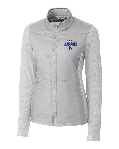 Cutter and Buck Ladies LA Dodgers 2020 World Series Champions Stealth Full-Zip Jacket